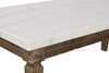 Picture of IMPERIAL COFFEE TABLE * REAL MARBLE TOP/WHITE WASH TIMBER