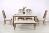 Picture of IMPERIAL 163 DINING TABLE  * REAL MARBLETOP/SOLID WHITE WASH TIMBER