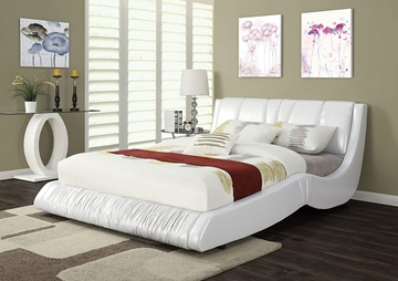 Picture of Nathan  White Faux Leather in queen size - online only