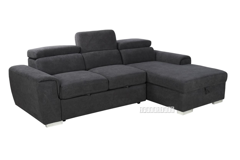 ELBA SECTIONAL SOFA/ SOFA BED WITH STORAGE * DARK GREY