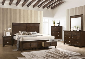 Picture of HARBOR BEDROOM COMBO IN QUEEN / KING SIZE * BROWN