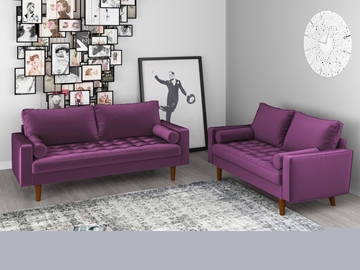 Picture of FAVERSHAM 3+2 SOFA RANGE * EGGPLANT