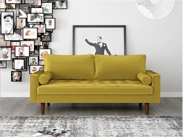 Picture of FAVERSHAM 3+2 SOFA RANGE - Goldenrod