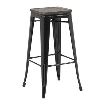Picture of TOLIX Replica Bar Stool  Rustic Elm Seat *6 colors