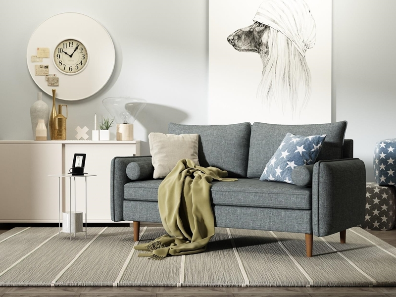 Picture of OLIVIA 3+2 SOFA RANGE  *GREY
