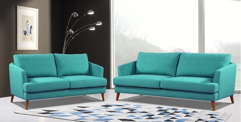 Picture of TEAL 1+2+3 SOFA RANGE *LIGHT BLUE