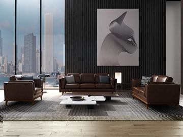 Picture of PANAMA ARMCHAIR *Air leather Brown