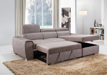 Picture of ELBA SECTIONAL SOFA/ SOFA BED WITH STORAGE * LIGHT GREY