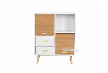 Picture of MANSFIELD 2DRW 2DOOR BAMBOO SMALL CABINET
