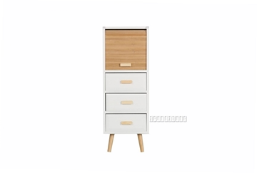 Picture of MANSFIELD 3DRW 1DOOR BAMBOO SMALL CABINET