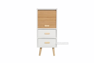 Picture of MANSFIELD 2DRW 1DOOR BAMBOO SMALL CABINET