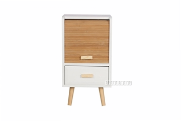 Picture of MANSFIELD 1DRW 1DOOR BAMBOO SMALL CABINET