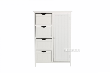 Picture of NORTON 4 DRW 1DR SMALL CABINET * WHITE