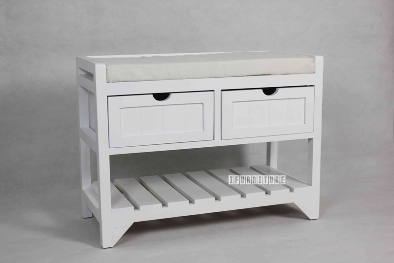 Picture of NORTON 2 DRW SMALL BENCH * WHITE