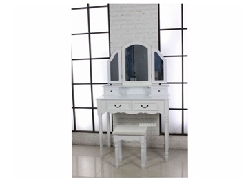 Picture of WALLACE DRESSING TABLE & STOOL * WHITE