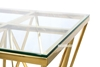 Picture of LELLA SQUARE CLEAR GLASS SIDE TABLE * ANGULAR SHAPED GOLD