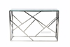 Picture of LELLA RECTANGLE CLEAR GLASS HALL TABLE * SILVER