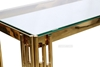 Picture of LELLA RECTANGLE CLEAR GLASS HALL TABLE * GOLD