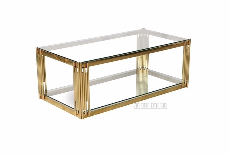 Picture of LELLA RECTANGLE CLEAR GLASS COFFEE TABLE * GOLD