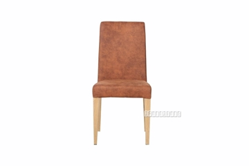 Picture of WEKA DINING CHAIR IN BROWN * STACK-ABLE