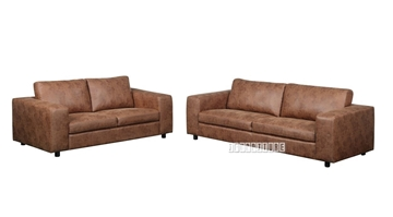Picture of ATHENS 3+2 Sofa RANGE *Brown