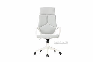 Picture of SUTTON HIGH BACK OFFICE CHAIR *WHITE FRAME WITH GREY FABRIC
