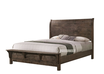 Picture of HEMSWORTH QUEEN SIZE/ KING SIZE BED *SOLID TIMBER & VENEER IN RICH