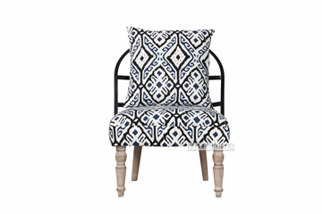 Picture of PAISLEY LOUNGE CHAIR * BLACK/WHITE