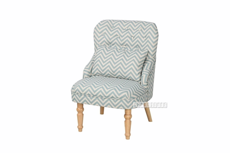 Picture of HAXBY LOUNGE CHAIR * BLUE/WHITE