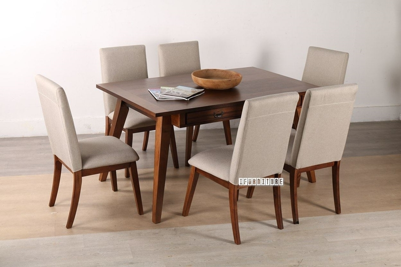 Picture of TAPPER 163 7PC DINING SET *RUBBERWOOD