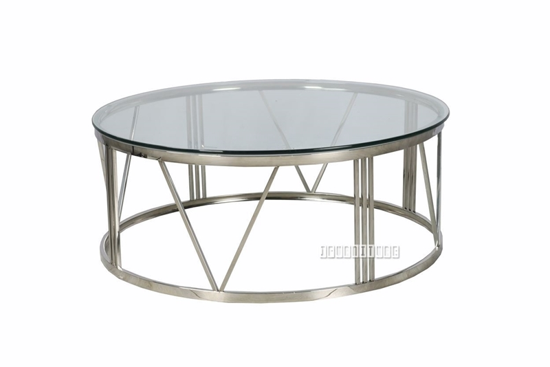 Picture of GALAXY ROUND COFFEE TABLE *CLEAR GLASS