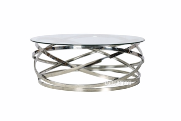 Picture of TARANTO ROUND COFFEE TABLE *CLEAR GLASS