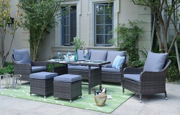 Picture of VANNES 6PCS PATIO SOFA SET--Aluminum frame