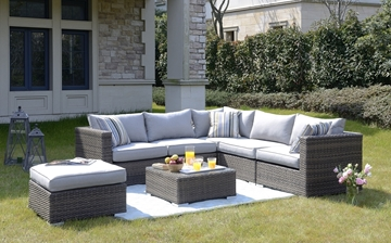 Picture of SWINDON PATIO SOFA SET WITH COFFEE TABLE* ALUMINUM FRAME