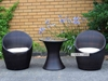 Picture of BIRDNEST RATTAN OUTDOOR 3PC SET