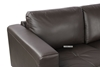 Picture of CINDY SECTIONAL SOFA *GENUINE LEATHER *DARK