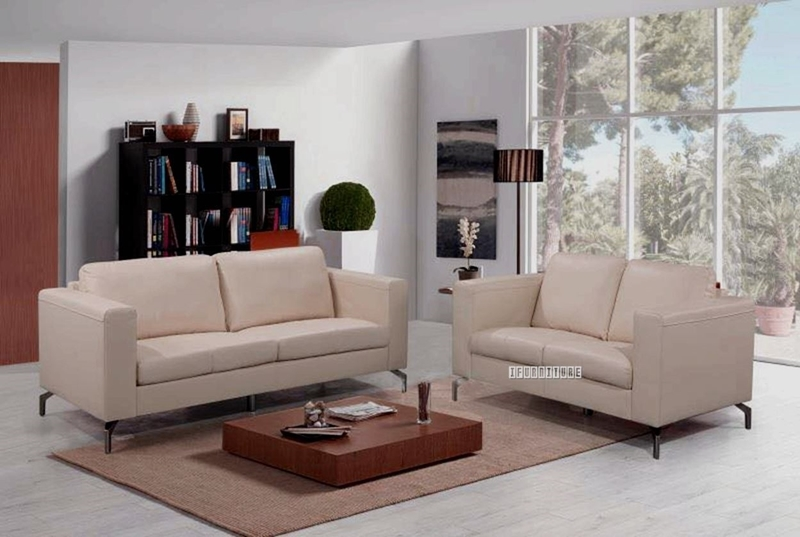 Picture of CINDY 3+2 SOFA RANGE *Genuine Leather* BEIGE