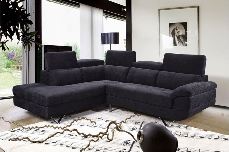 Picture of Bronte Sectional Sofa *Black