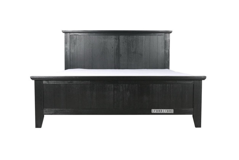 Picture of CAROL SOLID ACACIA Full/QUEEN/KING BED *BLACK