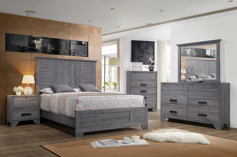 Picture of MORITZ QUEEN/KING SIZE BEDROOM COLLECTION* GREY