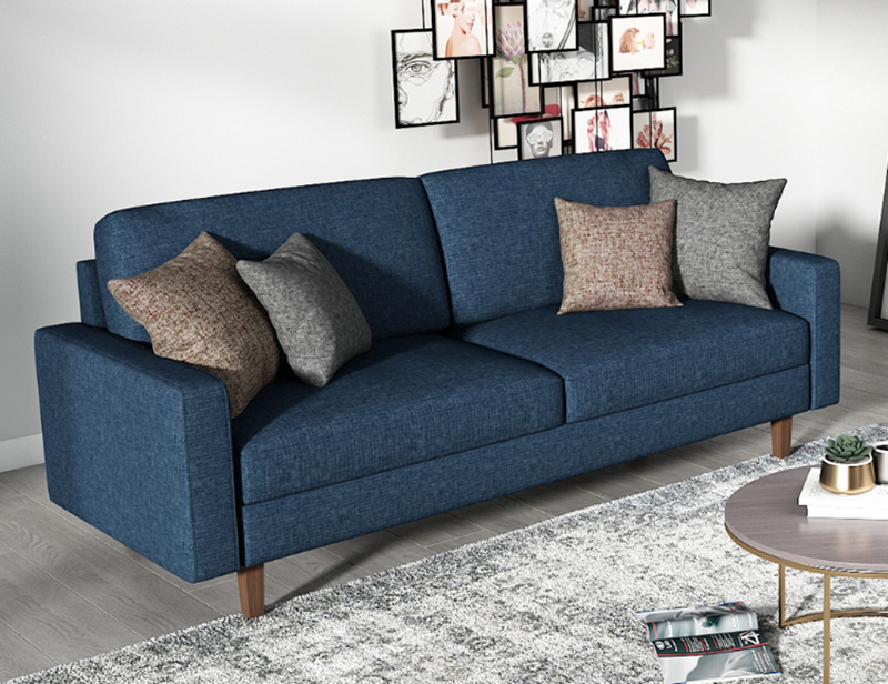 MAC FABRIC 3+2 SOFA RANGE IN DARK BLUE