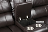 Picture of ARTHUR LeatherGel Sectional Power Recliner *Espresso