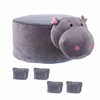 Picture of PLUSH ANIMAL FOOT STOOL - HIPPO