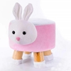Picture of PLUSH ANIMAL FOOT STOOL - PINK RABBIT