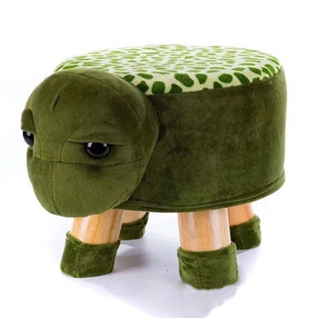 Picture of PLUSH ANIMAL FOOT STOOL - TURTLE