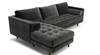 Picture of FAVERSHAM SECTIONAL SOFA IN GREY* VELVET