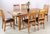 Picture of NOTTINGHAM 150-195 EXTENSION DINING SET WITH 6 CHAIRS *SOLID OAK