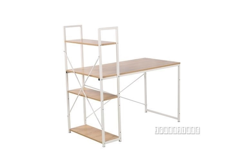 Picture of CITY 120/140 DESK -WITH REVERSIBLE SHELF *WHITE