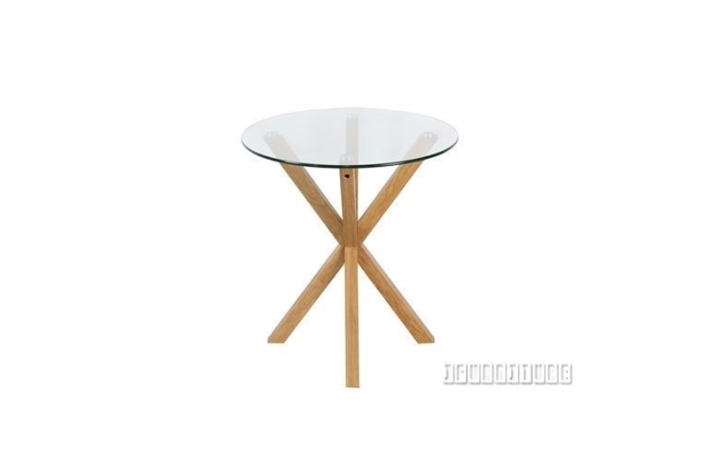 Picture of POLO GLASS ROUND SIDE TABLE