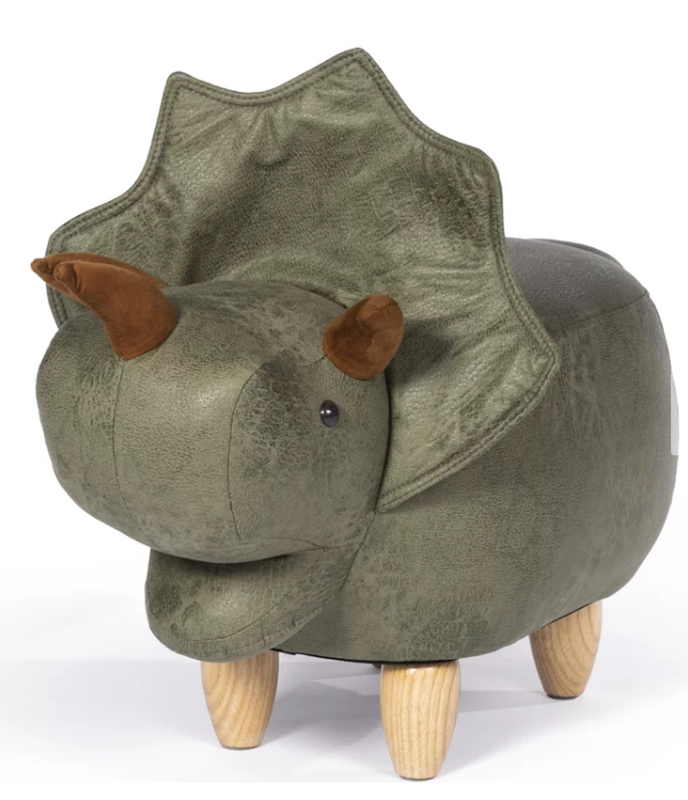 Picture of Harwood Triceratops Dinosaur Ottoman